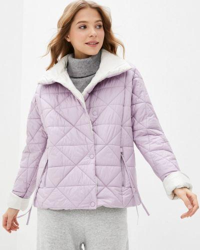 Фиолетовая утепленная куртка снежная королева