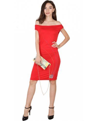 Красное платье со стразами Roccobarocco