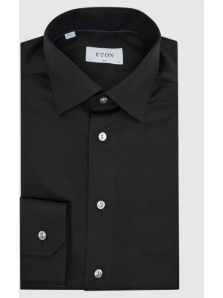 Czarna koszula slim Eton