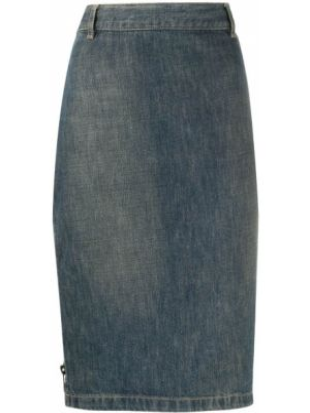Джинсовая юбка карандаш прямая Gucci Pre-owned