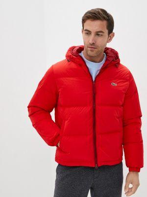 Красная куртка осенняя Lacoste