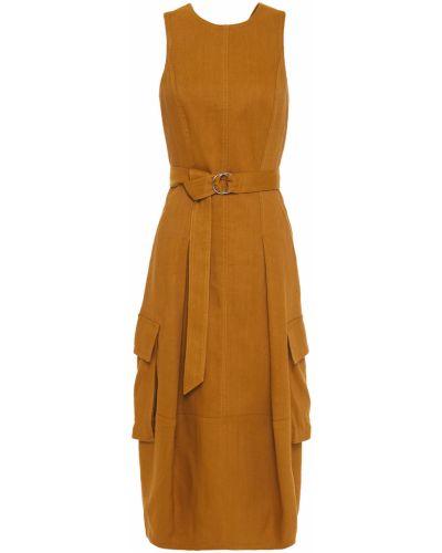 Sukienka z wiskozy z paskiem Tibi
