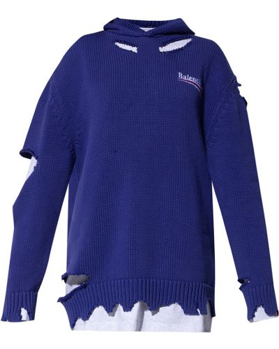 Sweter z kapturem - szary Balenciaga
