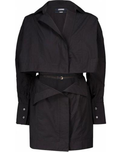 Ватный черный хлопковый халат Jacquemus