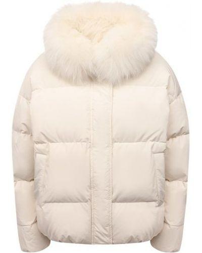 Пуховая куртка - белая Yves Salomon