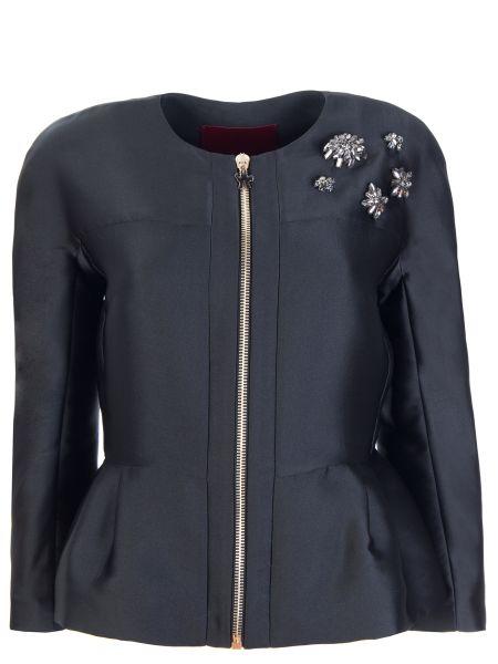 Куртка на молнии со стразами круглая с вырезом Moncler Gamme Rouge