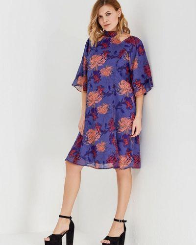 Платье весеннее фиолетовый Lost Ink Plus