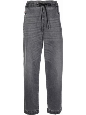 Укороченные прямые джинсы - серые Diesel