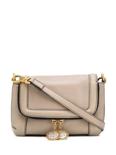 Кожаная сумка хаки с карманами с тиснением из натуральной кожи Dolce & Gabbana Pre-owned