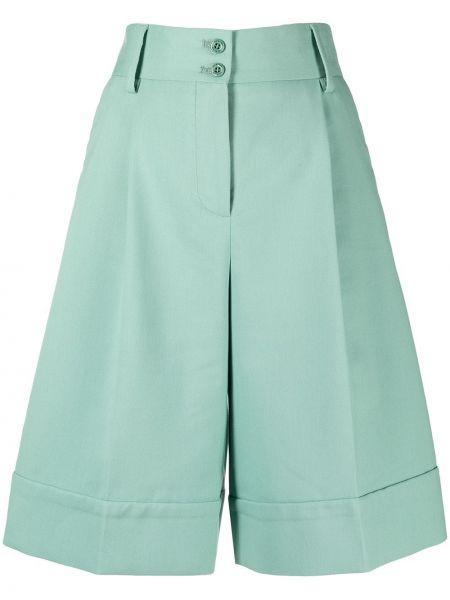 Зеленые с завышенной талией шорты свободного кроя See By Chloé