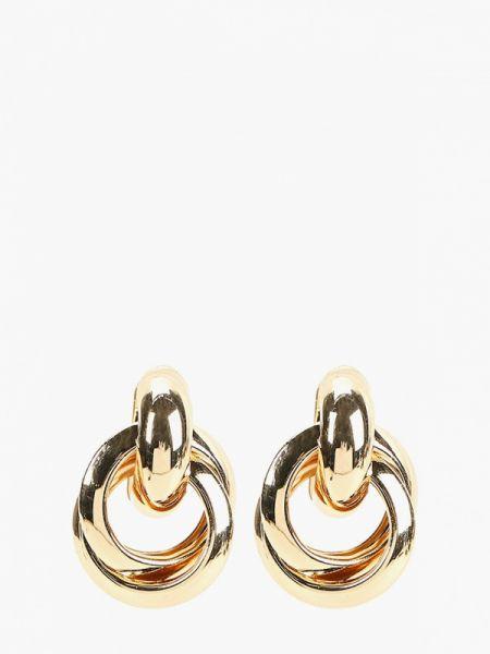 Золотые серьги удлиненные золотой Mango