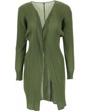 Zielony sweter z długimi rękawami Issey Miyake
