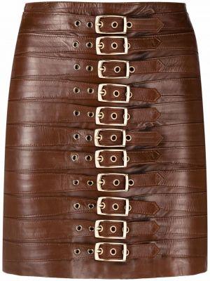 Коричневая юбка с завышенной талией Manokhi