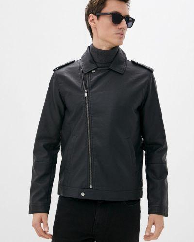 Черная кожаная куртка осенняя Brave Soul