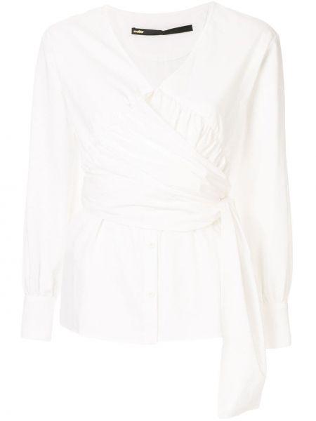 Блузка с длинным рукавом белая Muller Of Yoshiokubo