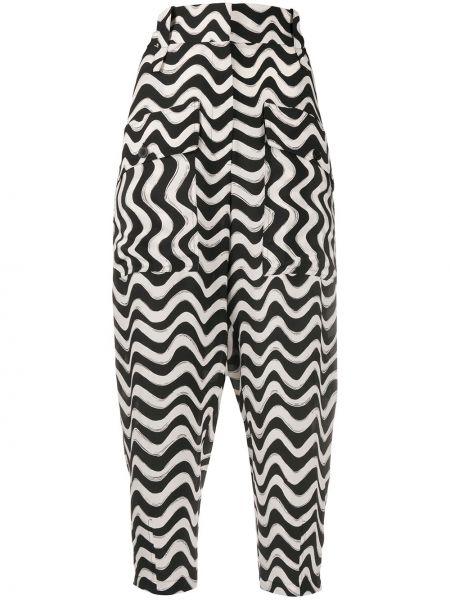 Черные зауженные укороченные брюки с карманами Stella Mccartney