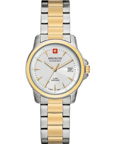 Водонепроницаемые часы кварцевые швейцарские Swiss Military Hanowa