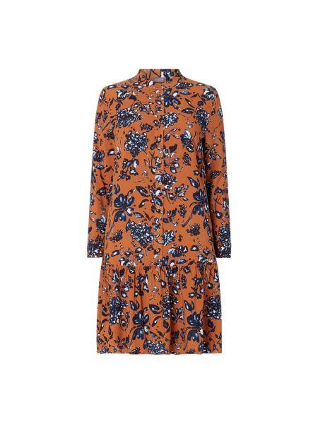 Sukienka rozkloszowana z falbanami z wiskozy Samoon