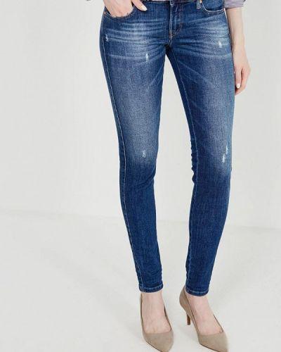 Синие рваные джинсы Diesel