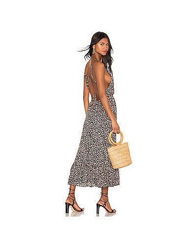 Платье с поясом на резинке шелковое Blue Life