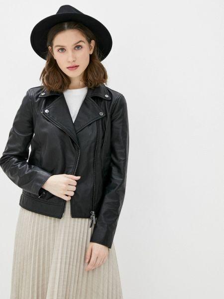 Кожаная куртка весенняя черная Armani Exchange