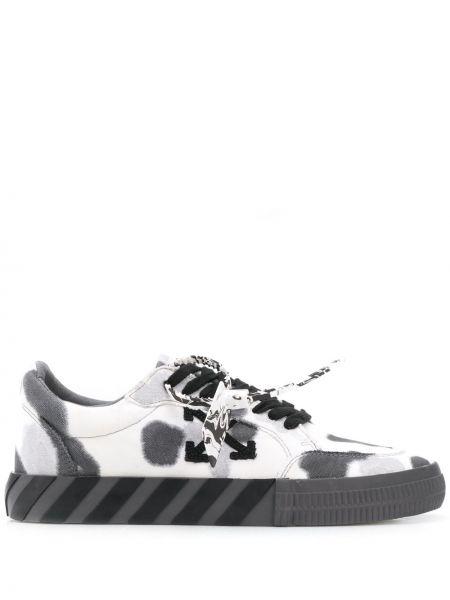 Ciemno szary włókienniczy sneakersy mieszkanie Off-white