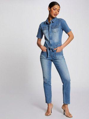 Синий джинсовый комбинезон Morgan