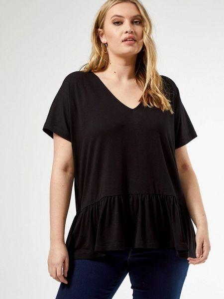 Блузка с коротким рукавом черная весенний Dorothy Perkins Curve