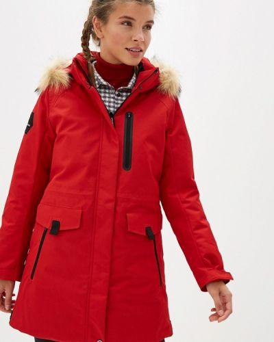 Зимняя куртка осенняя красная Anta