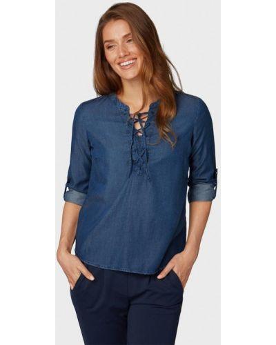 Синяя блузка с длинным рукавом Tom Tailor
