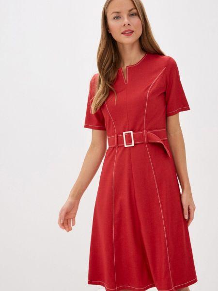 Вечернее платье красный весеннее Gregory