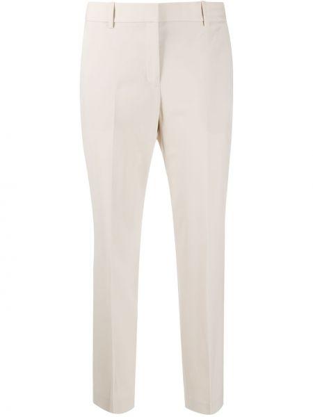 Деловые шерстяные укороченные брюки с потайной застежкой Theory