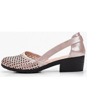 Туфли на каблуке розовый из нубука Clovis