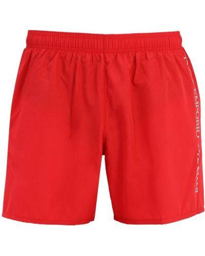 Красные шорты с карманами с завязками Ea7 Emporio Armani