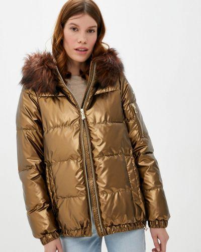 Коричневая утепленная куртка Geox