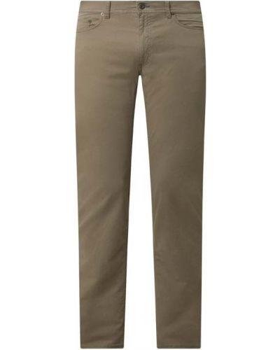 Zielone spodnie bawełniane Brax