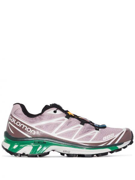 Спортивные фиолетовые текстильные кроссовки Salomon S/lab