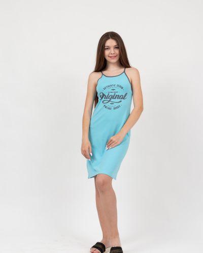 Платье на тонких бретелях с надписью Lovitton