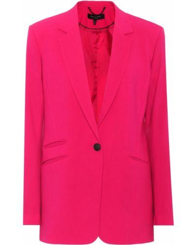 Пиджак шерстяной розовый Rag & Bone
