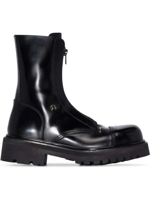 Черные резиновые ботинки Vetements