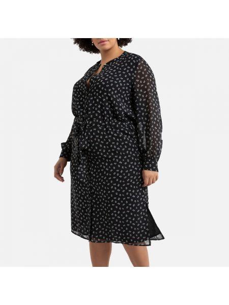 Платье миди на пуговицах с цветочным принтом La Redoute