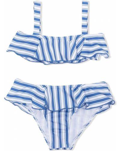 Niebieski bikini w paski Douuod Kids