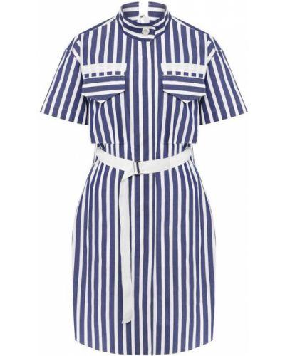 Платье с поясом модерн с карманами Sacai