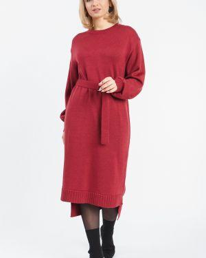 Платье с поясом бордовый через плечо Lacywear