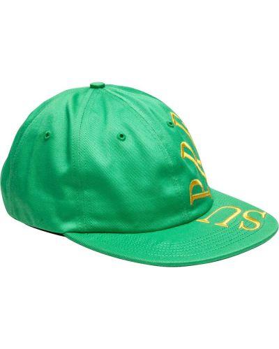 Zielona czapka bawełniana z haftem Supreme