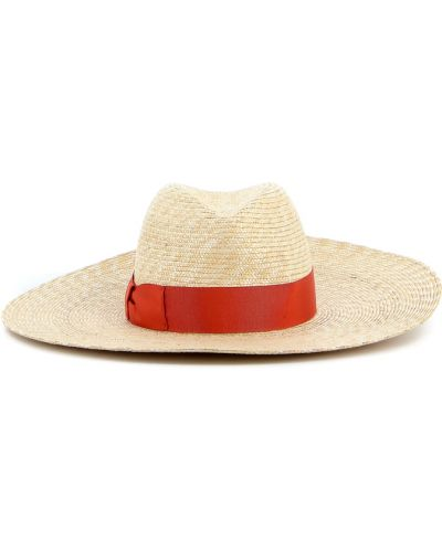 Pomarańczowy kapelusz Borsalino