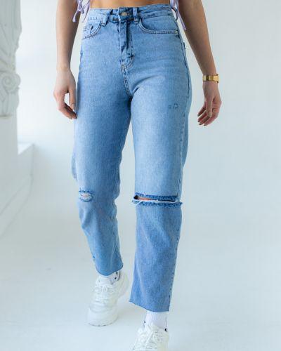 Хлопковые рваные джинсы Clew
