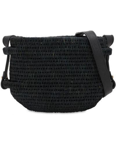 Czarna torebka skórzana Khokho