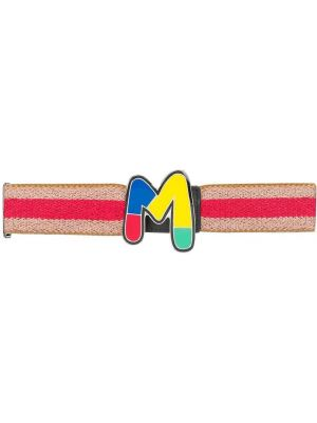 Коричневый ремень с пряжкой из вискозы с поясом M Missoni