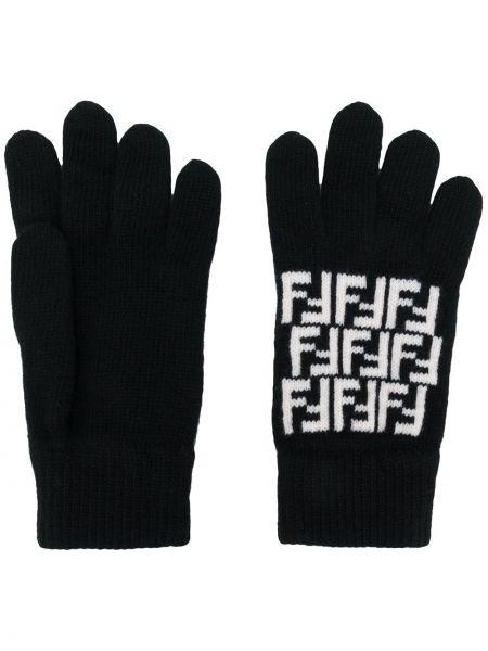Rękawiczki trykotowy wełniany Fendi